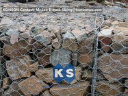 চীন PVC / Zinc Coated Wire Mesh Gabion Retaining Wall , Galvanized Hexagonal Wire Fence কোম্পানির