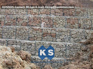 চীন Hexagonal Wire Mesh Gabion Retaining Wall with Polyethylene PE Coated Gabion Wire কোম্পানির